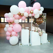 73pcs/set Pastel Pink Macaron Balloon Arch Set White Wedding Bridal Shower Party Backdrop Decoation Balloons Garland Baby Shower(China)