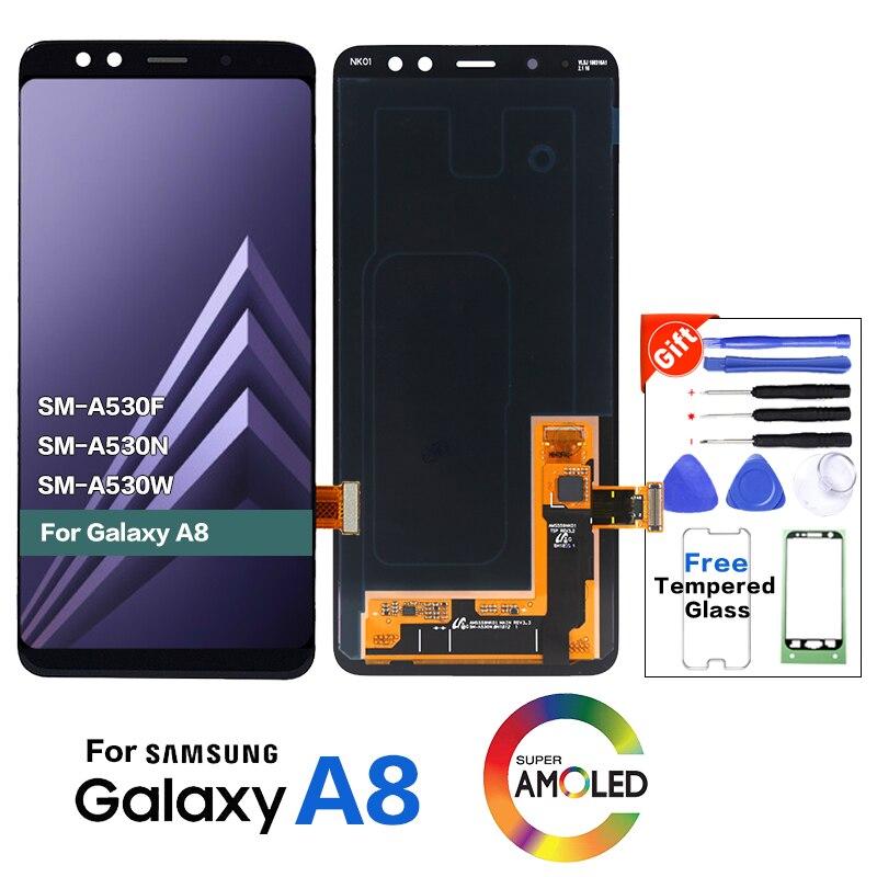 LCD amoled Original para Samsung Galaxy A8 2018 A530 A530F A530DS A530N SM-A530N pantalla táctil digitalizador LCD montaje de pantalla