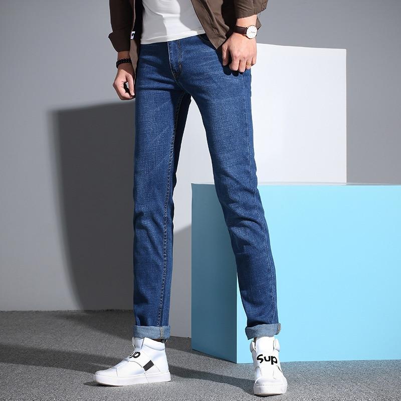 Spring Slim Fit Jeans Elasticity Korean-style Fashion Skinny Pants Teenager Versatile Long Pants 6168