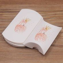 New design 20pc/lot mutli flower styles gift pillow box package DIY Thank You Jewelry Wedding Party Candy pillow Packaging Box(China)