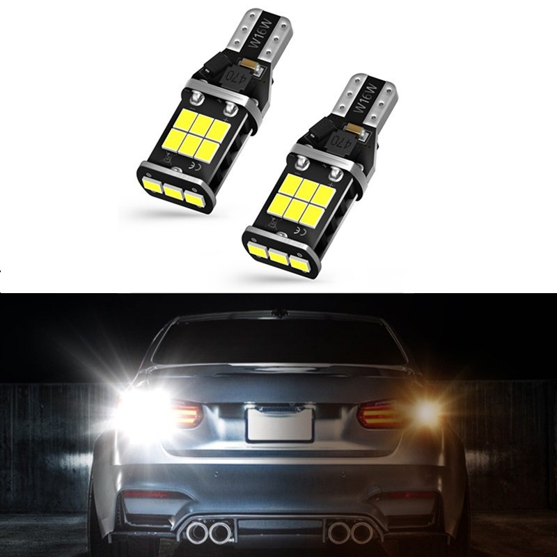 2x LED BULBS T15 W16W HONDA CANBUS 2835 SMD WHITE REVERSE LIGHTS 800LM