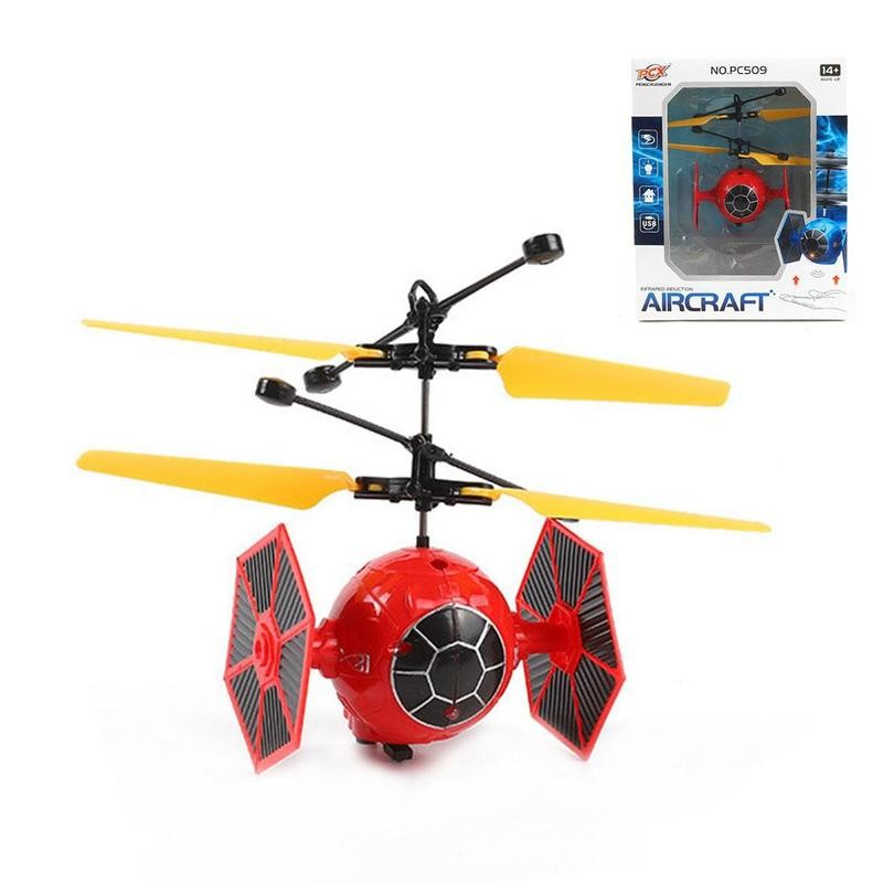 Mini zangão voando indução quadcopter rc zangão mini sensor infravermelho helicóptero aeronaves rc brinquedo zangão jogos ao ar livre