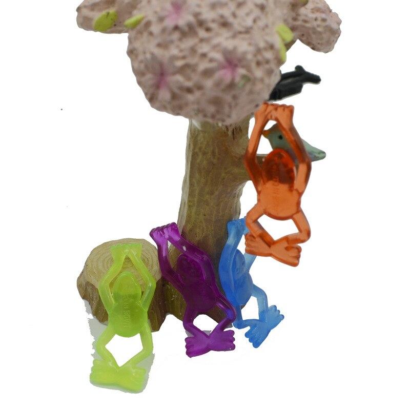 20pcs/lot Random Color Toy Slime Viscous Climbing Frog Action Figure Funny Gadgets PVC Spiderman For Kids Toys