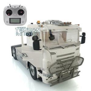 4*4 LESU 1/14 RC Metal Scania Chassis Sound Bumper Hercules Tractor Truck Radio THZH1023