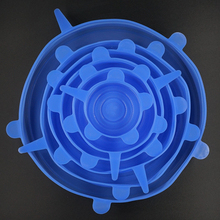 Bowl-Cover-Cap Lids-Pan Kitchen-Accessories Silicone Stretch Universal Cooking 6/12pcs