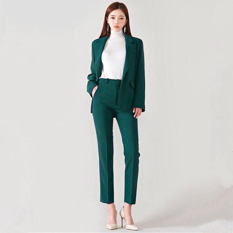 Women's Suit Women's Fashion Slim Temperament Suit Two-piece Suit (jacket + Pants) Women's Business Casual Formal Wear