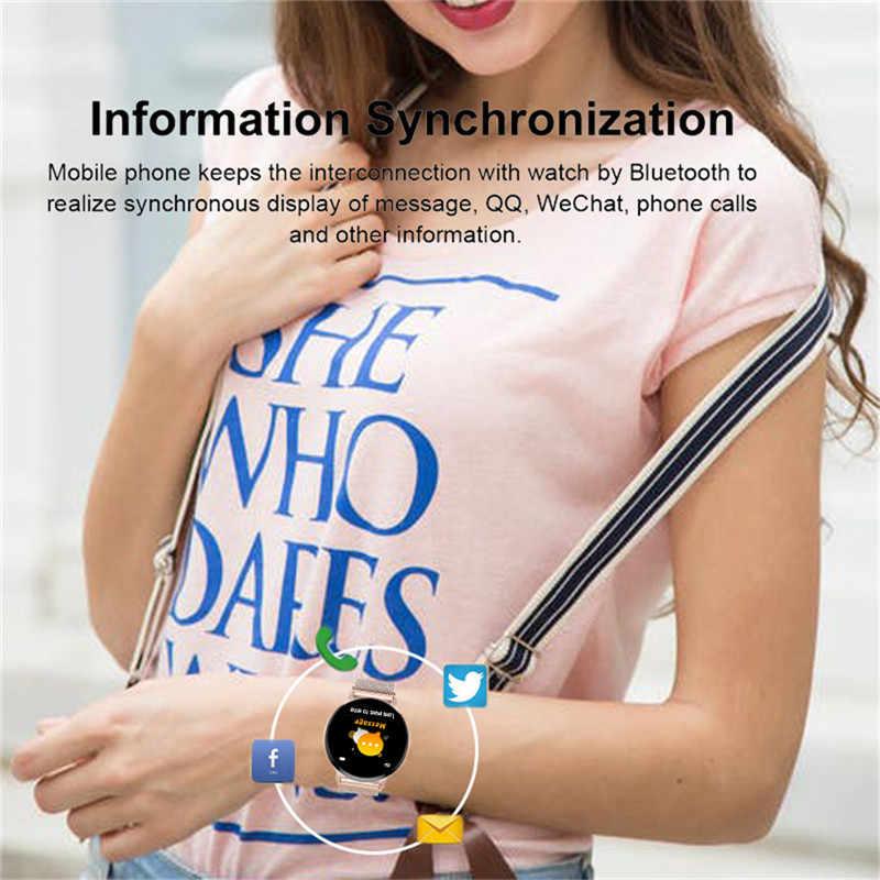 LIGE スマートブレスレット女性防水フィットネストラッカー心拍数血圧モニター歩数計歩数計リストバンド + ボックス