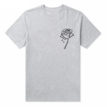 for Lady Top Tee Hipster Tumblr Drop Ship Women Casual  Rose Flower Print Funny T-shirt