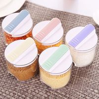 5pcs/Set Creative Transparent Seasoning Cans Kitchen Spice Rack Condiment Bottles Pepper Shakers Box|Spice & Pepper Shakers| |  -