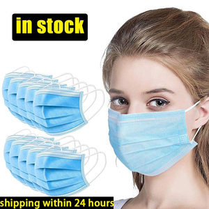 Image 4 - Anti Pollution 3 Layers Mask Dust Protection Masks Disposable Face Masks Elastic Ear Loop Disposable Dust Filter Safety Mask