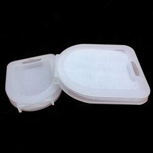 Image 2 - Translucent small/big 37 62mm/67 82mm Camera Lens Filter UV CPL FLD ND Filter Storage Box Bag Case camera accessories
