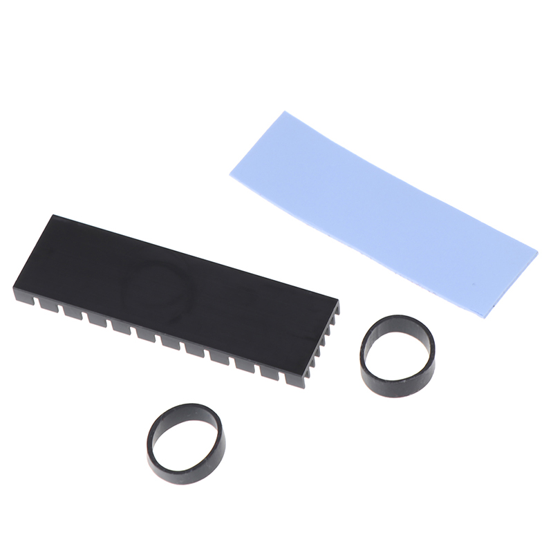 1Set For M.2 NGFF NVMe 2280 PCIE SSD Aluminum Cooling Heat Sink With Thermal Pad 3