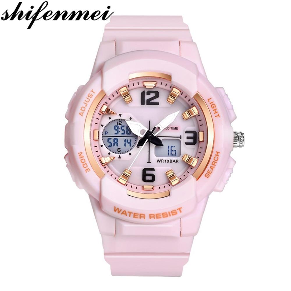 Shifenmei Digital Watch Women Sports Womens Watches Top Brand Ladies Bracelet Wristwatch Quartz Watch Female Relogio Feminino