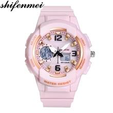 Цифровые часы Shifenmei, женские спортивные часы, топовый бренд, дамский браслет, наручные часы, кварцевые часы, женские часы