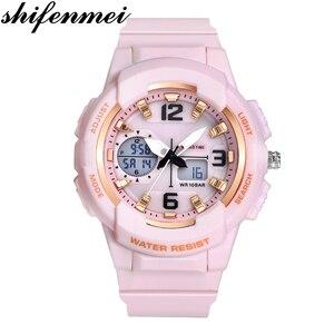 Image 1 - Shifenmei דיגיטלי שעון נשים ספורט נשים שעונים למעלה מותג גבירותיי צמיד שעוני יד קוורץ שעון נשי Relogio Feminino