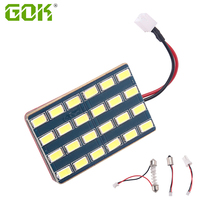 10 100sets/lot Bright Light Bulbs For Cars T10 W5w 24 Smd 5730 Led Auto Interior Panel Lamp With T10 Ba9s adapter Festoon Base