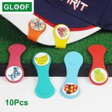 10 шт/лот маркеры для мячей гольфа с магнитной застежкой шариковыми