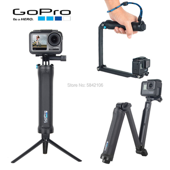 GOPRO Original 3 Way Grip Waterproof Selfie Stick Tripod Stand For GoPro Hero 8 7 6 5 4 Session