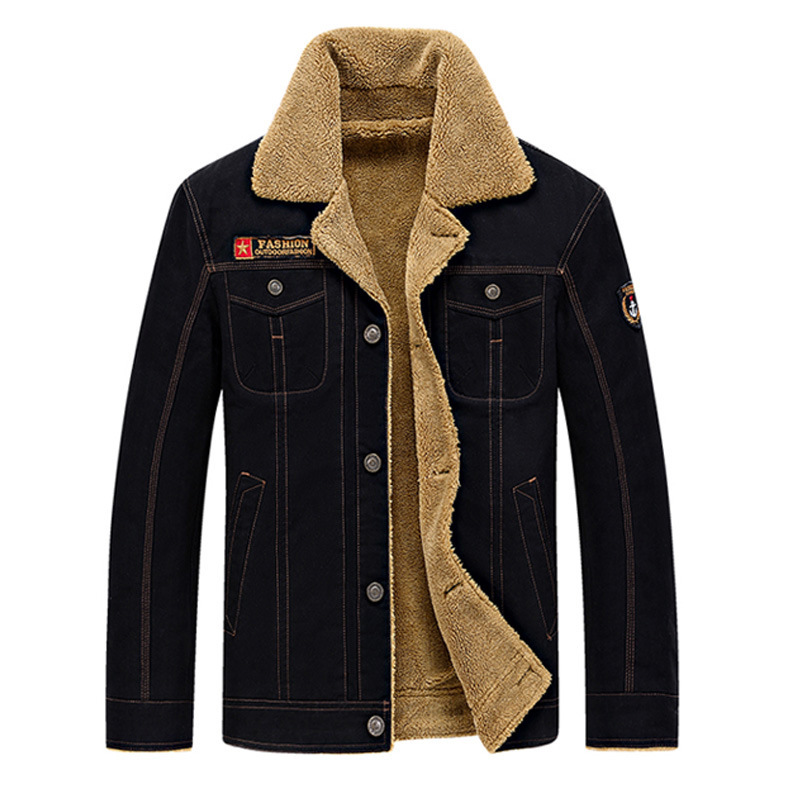 Winter Increase Down Male Jacket Thickening Cotton-padded Jacket Men's Cotton-padded Clothes Will Code Loose Coat Urban
