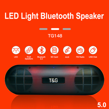 20W LED Night Portable Bluetooth Speaker Waterproof Wireless Column Boom Box Subwoofer TF AUX FM Radio Smart USB Speaker for PC 10w portable column bluetooth speaker touch control wireless bass speaker with mic fm radio tf card u disk aux for iphone pc