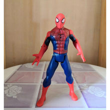 "7 ""The Avengers Superhero Hulk Spider-Man Peter Benjamin Parker Com Luz LED Collectible Toy Modelo de Ação PVC OPP 18CM Z2672(China)"