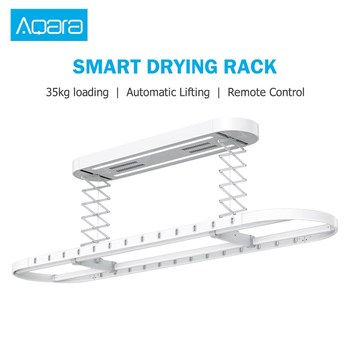 Aqara Smart Drying Rack Remote Control Automatic Lifting Air Indoor 2 Wind Modes 35kg Loading Works With Mi Home APP