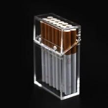 Креативный чехол акриловая коробка для сигарет; Защита от ветра
