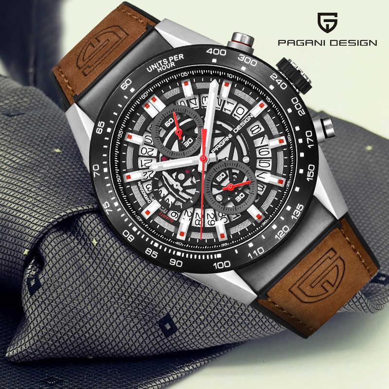 パガーニデザインクォーツスポーツメンズ腕時計軍事防水腕時計メンズクロノグラフ最高級の男性レロジオmasculino