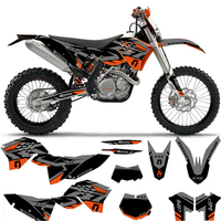 Motorcycle Decals Stickers Graphics For KTM EXC EXC F XCF XC F 2008 2009 2010 2011 SX SXF SX F 2007 2010 125 200 250 350 450