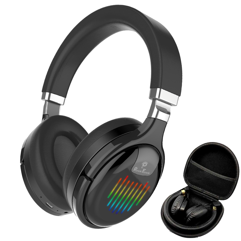 Bluetooth Headphones Active Noise Cancelling Wireless & Wired Headset With Mic Deep Bass Stereo Sound  Earphone For mobile PC