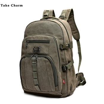 цена Leisure Canvas Travel Backpack 2020 High Quality Large Capacity Men Outdoor Mountaineering Bag Male Backpack Luggage School Bag онлайн в 2017 году