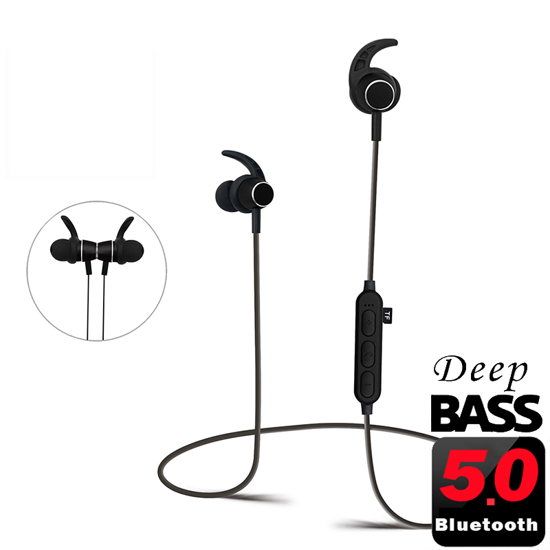 PunnkFunnk Bluetooth Earphones Wireless Headphones Bluetooth 5.0 MP3 Player Matel Magentic 3D Stereo In ear Headsets WIth Mic