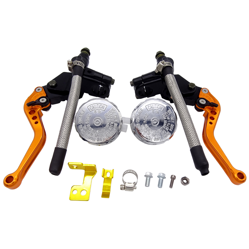 New 7 8 quot 22mm Motorcycle Universal Hydraulic Adjust Brake Pump Clutch Lever Master Cylinder For Yamaha Honda Kawasaki Suzuki KTM in Levers Ropes amp Cables from Automobiles amp Motorcycles