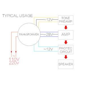 Image 2 - Lusya çift AC 28v 12V tek 12v 200W trafo için TDA8954th LM3886 ön amplifikatör ton kullanılan 220V 50Hz A2 015