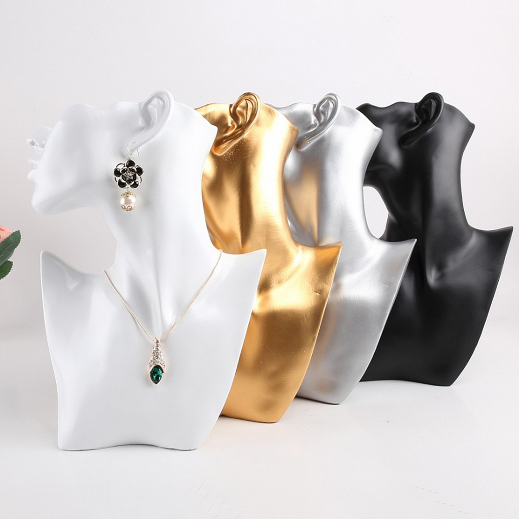 Female Fashion Jewelry Headless Mannequin Bust Display, Resin Material