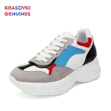 Krasovki Genuines Sneakers Women Autumn Leisure Increases Dropshipping Fashion Thick Bottom Breathable Mixed Colors Shoes