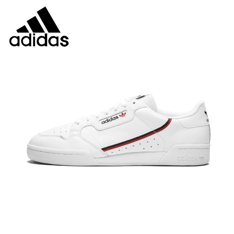 Original Adidas Continental 80 Rascal Sneakers Man Lightweight Classic White Skateboard Shoes Waterproof Anti-slip DurableB41674