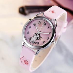 Women Watches Clock Quartz Feminino for Girls Student Reloj Mujer Cheese Cat-Pattern