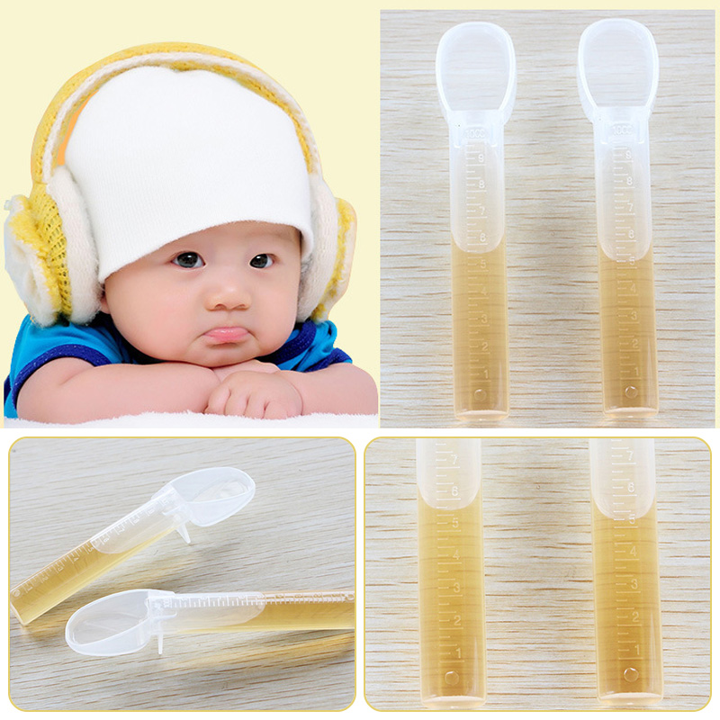 Baby Spoon Utensil Kids Feeding Medicines Syringe Device For Infants Silicone