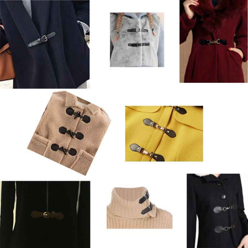 Deri geçiş düğmeleri Metal toka çanta için ceket ceket spor kazak DIY Scrapbooking dikiş kumaş aksesuarları 72XF