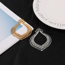 5 pçs/lote 6.5*5cm ouro/ródio banhado tom filigrana oco garland conectores para fazer jóias diy acessórios pingente