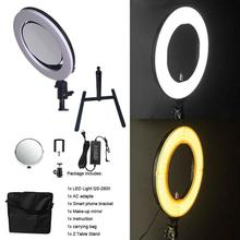 1 pc yidoblo led lamp light d 3100ii 200w 20000 lumen studio professional multi color photography led video continue light Yidoblo QS-280 10 Camera Selfie makeup Photo/Studio/Phone/Video LED Ring Light Photography 28W Bio-color Ring Lamp with handbag
