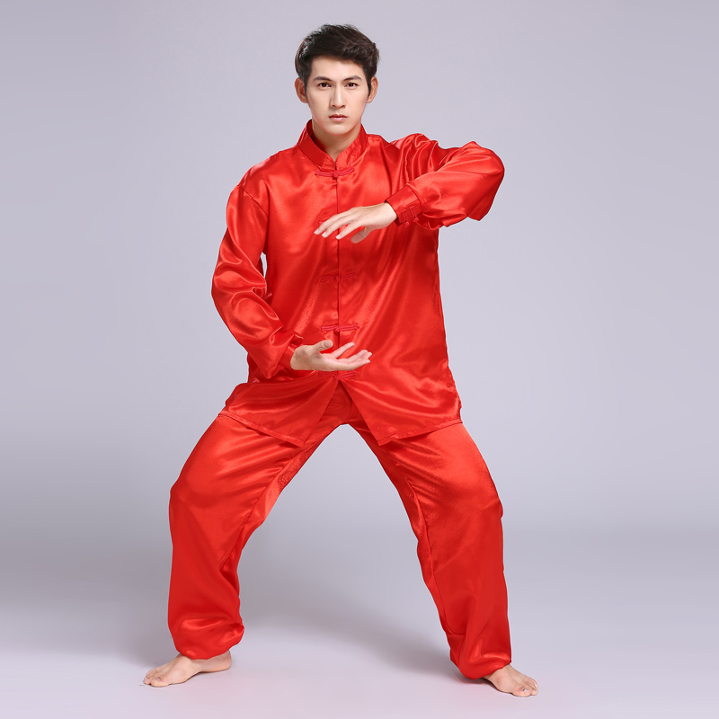 2019 Chinese Kung Fu Uniform Jiu Jitsu Clothes Wushu Uniform Tai Chi Suit Martial Arts Performance Taiji Jiujitsu Sets For Men