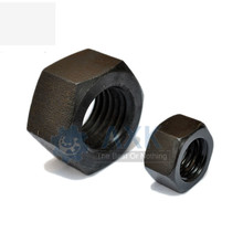 100Pcs M2 M2.5 M3 M4 M5 M6 DIN934 Black Carbon Steel Hex Nut Hexagonal Nuts Grade 8.8