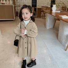 Jacket Windbreaker Trench-Coat Spring Outerwear Girls Children Autumn Fashion for Khaki