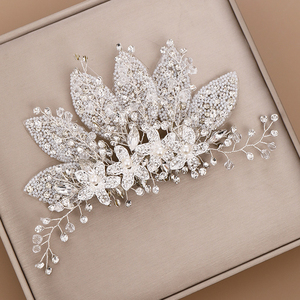 Image 3 - Crystal Wedding Hair Clip Hair Accessories Jewelry Ladies Hair  Accessoire Cheveux Bridal Tiaras Bijoux Hair Stick  for Women