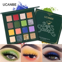 UCANBE BACK TO SCHOOL Eye Shadow Palette Green Eyes Makeup 16 Colors Pressed Glitter Shimmer Matte Eyeshadow Pigment Cosmetics novo 18 colors nude eyeshadow palette shimmer matte pressed eye shadow powder makeup glitter palette lasting eyes cosmetics