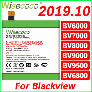 WISECOCO Battery For Blackview BV6000 BV6800 BV7000 BV8000 BV9000 Phone Latest Production High Quality New Battery+Tracking Code