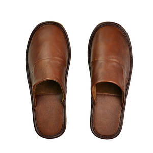 Slippers Indoor Shoes TPR Autumn Genuine-Cow-Leather Men Single-House Casual Fashion