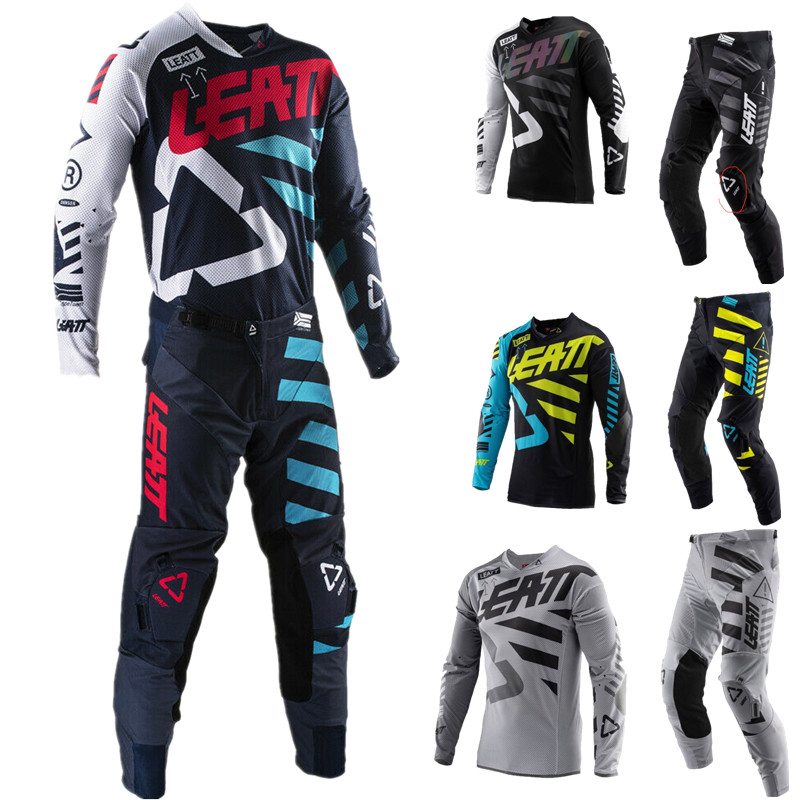 2019 Leatt Top Gear Set 4 Cores MX de Motocross ATV Dirt Bike Jersey E Calças
